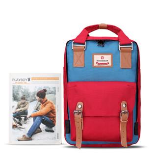 SWISSGEAR双肩包 韩版时尚多功能双肩背包手提包 男女学生书包iPad包 SA-9871酒红色