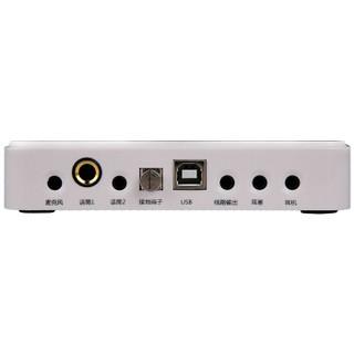 客所思 P10 外置USB声卡 搭配 iSK P300麦克风(橙)  K歌套装
