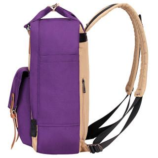 SWISSGEAR双肩包 韩版时尚多功能双肩背包手提包 男女学生书包iPad包 SA-9871紫色
