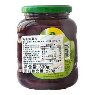 德国进口 冠利(KUHNE)方便速食 配菜 西餐 红菜头 330g