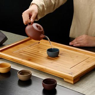 金镶玉 茶盘茶托 大平板 竹木实木功夫茶具茶道配件茶海