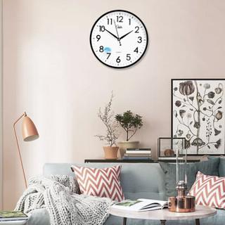康巴丝(COMPAS)挂钟 创意时尚时钟 静音石英客厅卧室简约钟c2855 黑色