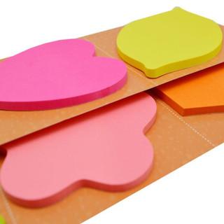N次贴(STICKN) 荧光轧型组合便条纸混色 6本装