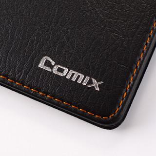 齐心(COMIX) 25K 74张皮面笔记本子/记事本/日记本 黑色 办公文具 C4612