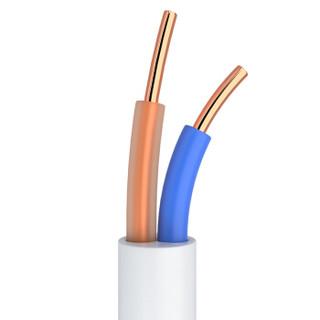 山泽(SAMZHE)C28BWG-203C 2芯单股纯铜电话线 语音跳线 座机延长线连接线 成品电话线带水晶头 3米