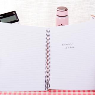 得力(deli)6本A4/80页螺旋装订本软抄本记事本笔记本子 7689-6