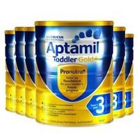 Aptamil 爱他美 金装 婴儿奶粉 3段 900g*6罐装