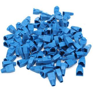 三堡(SANBAO)HS-008BL 蓝色水晶头护套 网线头护套 网线胶套 100个/袋