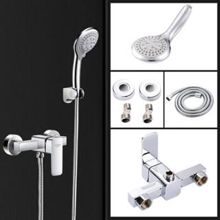 名爵(MEJUE)Z-1497卫浴简易淋浴花洒套装 方形现代时尚花洒淋浴器
