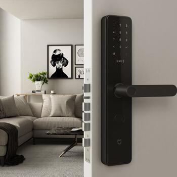 MI 小米 智能门锁 (碳素黑、指纹,密码,钥匙,指静脉,蓝牙)