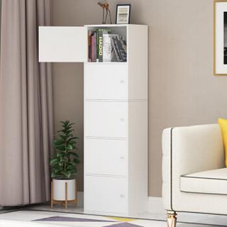 家乐铭品 储物柜 五层带门柜办公柜斗柜收纳柜书房柜 -暖白色A592