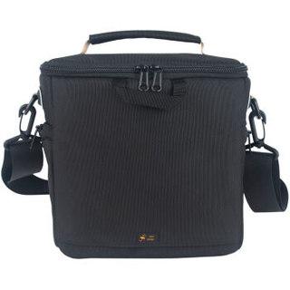 万信达(WXD)SM1411200 单反套机条纹撞色相机包(自带防雨罩) 黑色