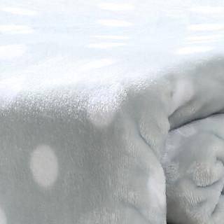 御棉堂 毛毯A类春夏空调法兰绒毯子毛巾被午睡法莱珊瑚绒盖毯被宿舍床单褥单双人 灰色圆点150*200cm