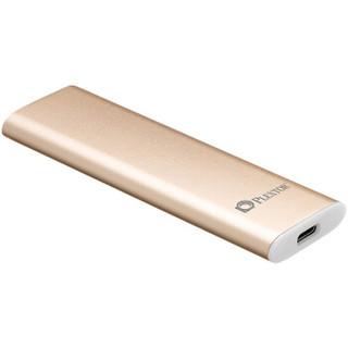 浦科特(PLEXTOR)512GB Type-C USB3.1移动硬盘 固态(PSSD)EX1 PLUS-512香槟金 防震抗摔 安全便携