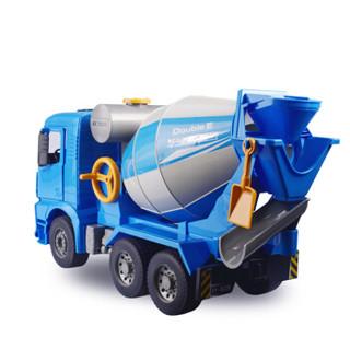 双鹰(DOUBLE E)手动滑行工程车水泥搅拌车(1:20)工程模型儿童玩具车男孩礼物 E228-002