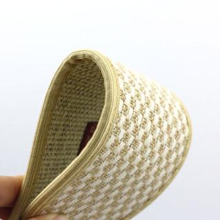 优唯美 5双装珍誉系列透气吸汗舒适竹炭双面棉麻鞋垫39码 ZY-6197