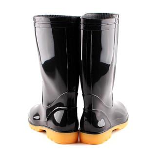回力 雨鞋男式中筒防水雨鞋户外雨靴套鞋 HXL807 黑色中筒 42码