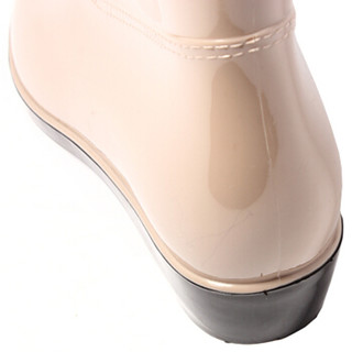 回力 雨鞋中筒防水鞋套鞋胶鞋雨靴 HXL523 卡其 36码