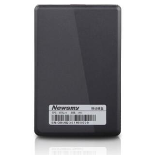 纽曼(Newsmy)160GB USB2.0 移动硬盘 清风 2.5英寸 风雅黑 文件数据备份存储 防滑耐磨 稳定耐用