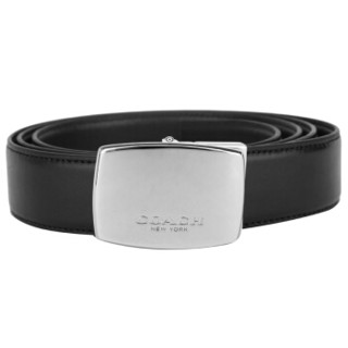 COACH 蔻驰 奢侈品 男士黑色/深棕色皮质腰带礼盒款 F65185 AQ0