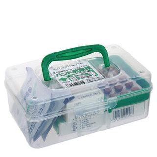 SANADA 进口家用急救箱收纳盒 户外便携式药箱收纳箱首饰盒工具箱京东自营凑单 透明
