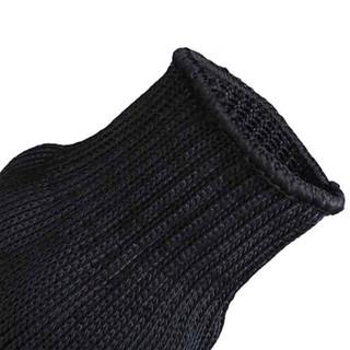 先锋连 安全防割手套  舒适不刺手 钢丝防护手套 战术手套 保安器材保安用品防割手套 黑色 ZY019 均码