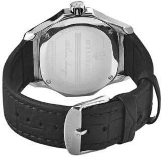 玛莎拉蒂(MASERATI)手表 Fuoriclasse系列石英黑色皮带时尚休闲商务男表黑色表盘R8851116004