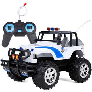 DZDIV 遥控车 越野车儿童玩具大型遥控汽车模型耐摔配电池可充电3030 警车款