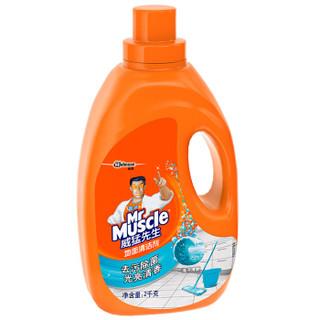 威猛先生 地面清洁剂 海洋清新 2kg 瓷砖清洁剂 地板清洁剂 木地板清洁剂 地板水【新老包装随机发货】
