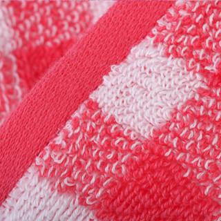 佳佰 毛巾 纯棉格子 三件套 3条装 洗脸手巾面巾 礼袋装(红、蓝、紫色各一条)