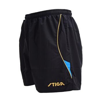 STIGA 斯帝卡     乒乓球短褲男女 乒乓球服運動短褲 G130217 黑藍  L