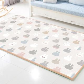 帕克伦 韩国原装进口 XPE丝绸爬行垫 淘气兔子单面图案200x180x1.0cm