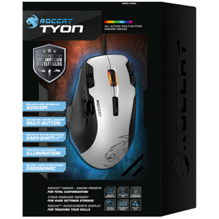 ROCCAT 冰豹 Tyon 钛鲨豹 激光游戏鼠标 白色