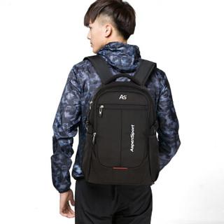 艾奔(AspenSport)双肩包笔记本电脑包 男女背包学生书包 AS-B36黑色