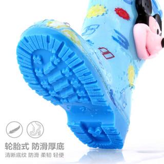 迪士尼 Disney 儿童雨鞋 男女童卡通防滑雨靴小孩胶鞋水鞋 15487 米奇蓝33码
