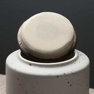 苏氏陶瓷(SUSHI CERAMICS)茶叶罐时尚亚光铁锈茶具配件(白)