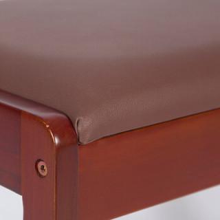 雅客集 换鞋凳 多功能储物凳子鞋架 欧式巴伦实木双层换鞋凳胡桃色 WN-16217WA