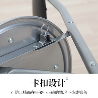 美达斯 凳子 折叠椅子 家用靠背餐椅软面 简约办公会议培训椅子 黑色 13905