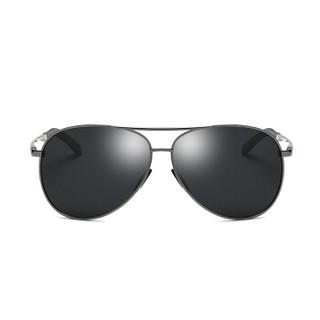 陌龙(Molong)偏光太阳镜驾驶墨镜时尚开车司机镜蛤蟆镜驾驶镜8011 枪框日用