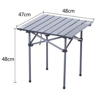 MAC 折叠桌子宿舍摆摊餐桌便携式小型展业桌户外小桌子简易家用 9967AS铝桌小号