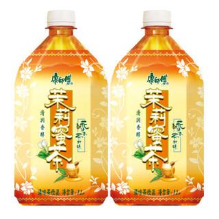 康师傅 茉莉蜜茶 茶饮料 1L*12瓶 整箱装(新老包装自然发货)