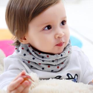 象宝宝(elepbaby)婴儿围脖 多功能宝宝脖套 秋冬棉质儿童围巾 男宝组3条装