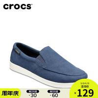 Crocs帆布鞋女卡骆驰都会街头休闲透气一脚蹬低帮纯色单鞋|204929