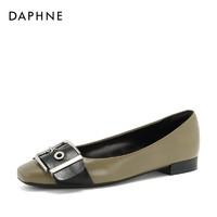 Daphne/达芙妮春季新款英伦乐福鞋ins风个性舒适平底单鞋女