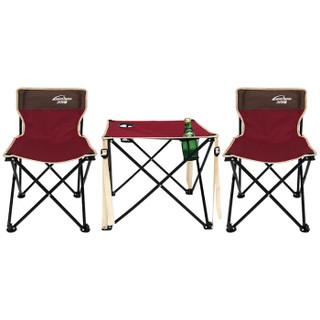 沃特曼Whotman户外折叠桌椅套装野餐烧烤桌椅套装便携式宣传桌椅三件套自驾游装备WT2260