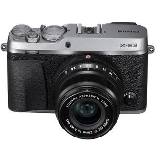 FUJIFILM 富士 X-E3 微单相机 套机 银色(23mm F2定焦镜头 )