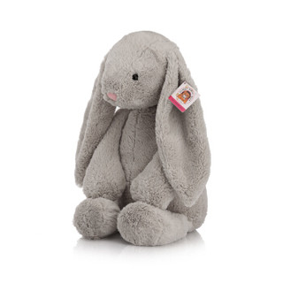 柏文熊 邦尼兔毛绒玩具公仔 布娃娃可爱兔子玩偶儿童女朋友生日礼物  灰色57cm高