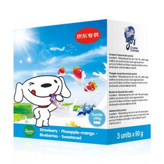 美妙可(me milk)婴儿辅食 蓝莓味儿童酸奶酸酸乳90g*3袋 进口宝宝酸奶零食 12个月以上