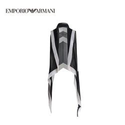 EMPORIO ARMANI阿玛尼奢侈品19春夏新款女士时尚简约个性提花披肩 635805-9P318 BLACK-00020 U
