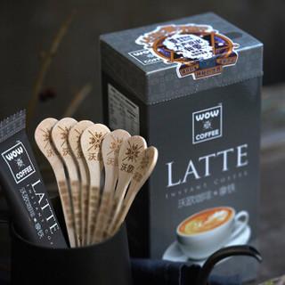 沃欧咖啡(wow coffee)经典拿铁即溶咖啡105g(15g*7条) 速溶系列 神秘系促销装